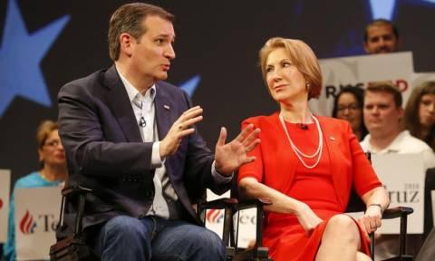 Η Κάρλι Φιορίνα συνυποψήφια του Τεντ Κρουζ εάν κερδίσει το χρίσμα των Ρεπουμπλικάνων