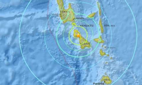 Ισχυρός σεισμός 7.3 Ρίχτερ στα νησιά Βανουάτου - Προειδοποίηση για τσουνάμι