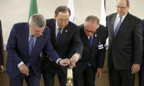 Στην Ελβετία έφτασε η Ολυμπιακή φλόγα