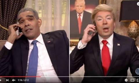 Όταν ο Ντόναλντ Τραμπ πήρε τηλέφωνο τον Ομπάμα για να του κάνει πλάκα (Vid)