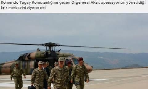 Τουρκία: Επίσκεψη αρχηγού στρατού στα στρατεύματα στο Σιρνάκ