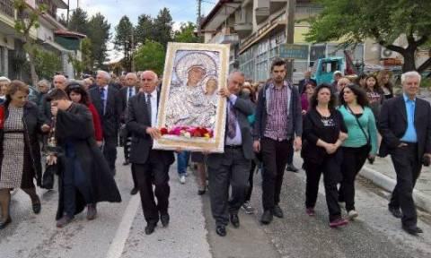 Υποδοχή της Εικόνας της Παναγίας της Ελεούσας στη Σιάτιστα (pics)