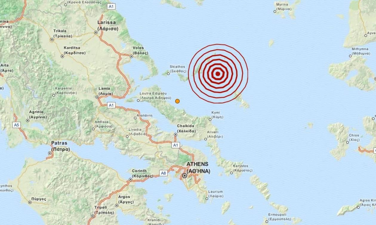 Σεισμός 4,2 Ρίχτερ στις Βόρειες Σποράδες (pic)