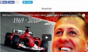 «Νεκρός ο Μίκαελ Σουμάχερ» γράφουν οι Ισπανοί!