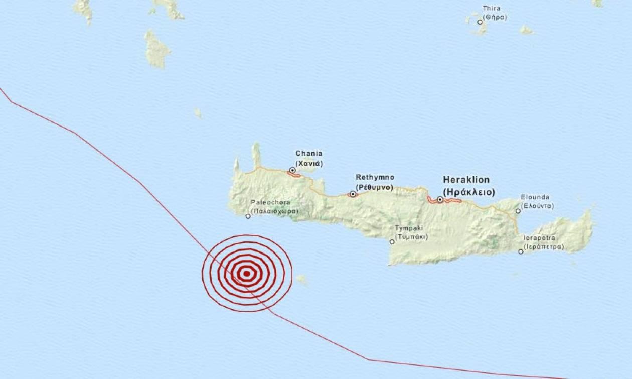 Σεισμός 3,5 Ρίχτερ δυτικά της Γαύδου (pic)