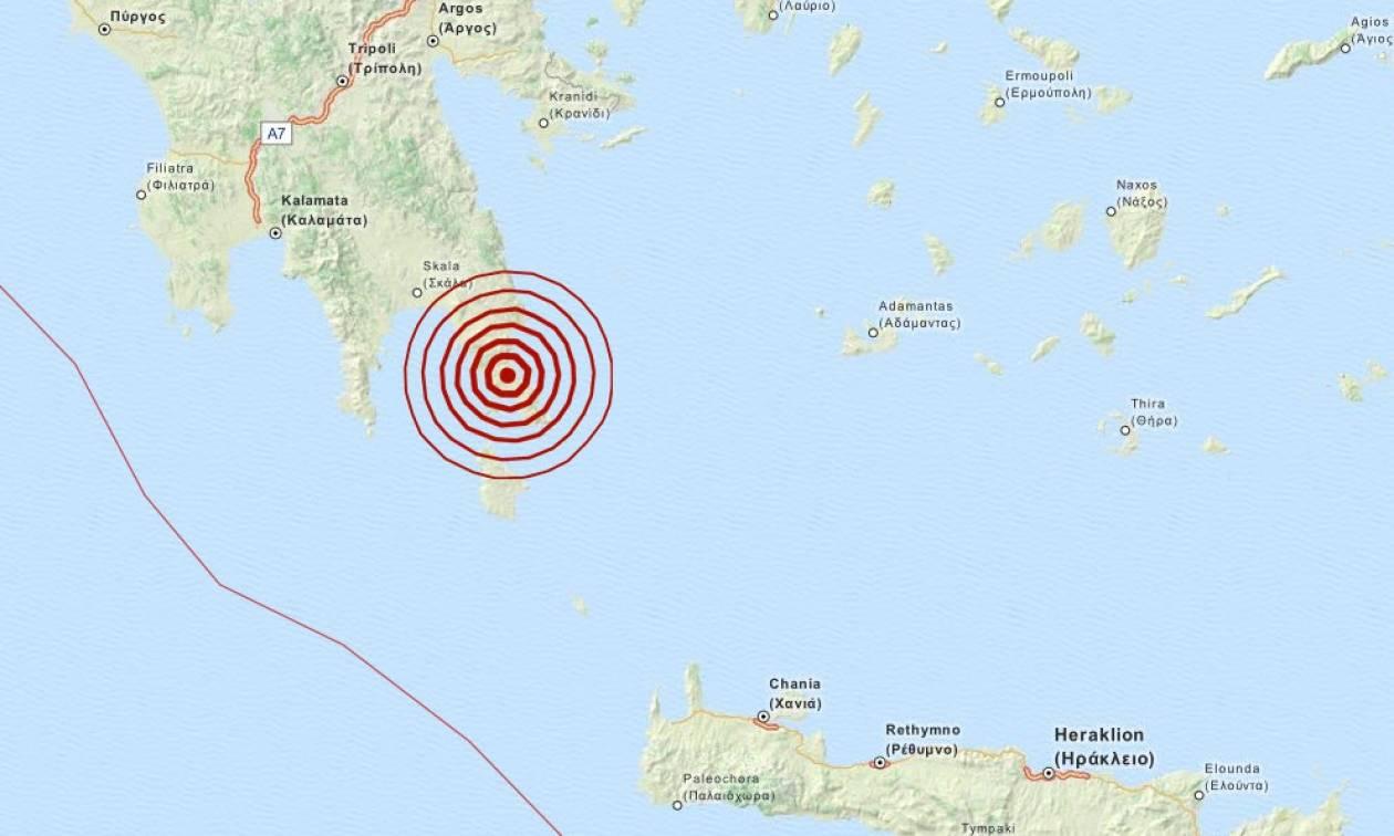 Σεισμός 4,4 Ρίχτερ κοντά στη Μονεμβασιά (pic)