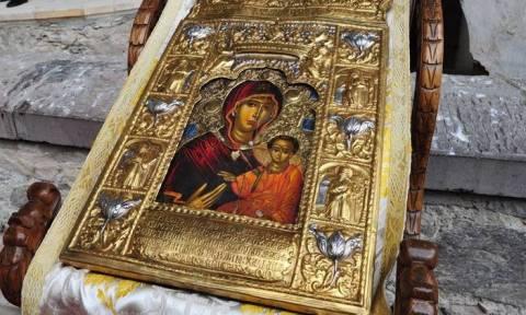 Η εικόνα της Παναγίας Σουμελά στις 20/5 στην Αθήνα