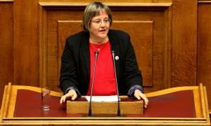 Κυβερνητικές πηγές: Δεν τίθεται θέμα διαγραφής της Κατριβάνου
