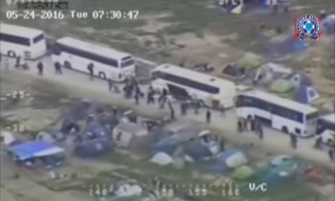 Ειδομένη: Εντυπωσιακά πλάνα της επιχείρησης εκκένωσης από το ελικόπτερο της ΕΛ.ΑΣ.