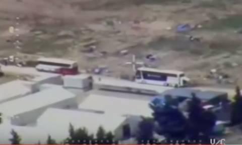 Εκκένωση Ειδομένης: Νέα πλάνα της επιχείρησης από ελικόπτερο της ΕΛ.ΑΣ. (vid)
