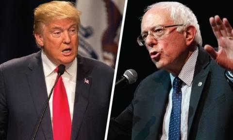 Προεδρικές εκλογές ΗΠΑ: Ο Σάντερς λέει «ναι» σε debate με Τραμπ, αλλά «όχι» με Κλίντον