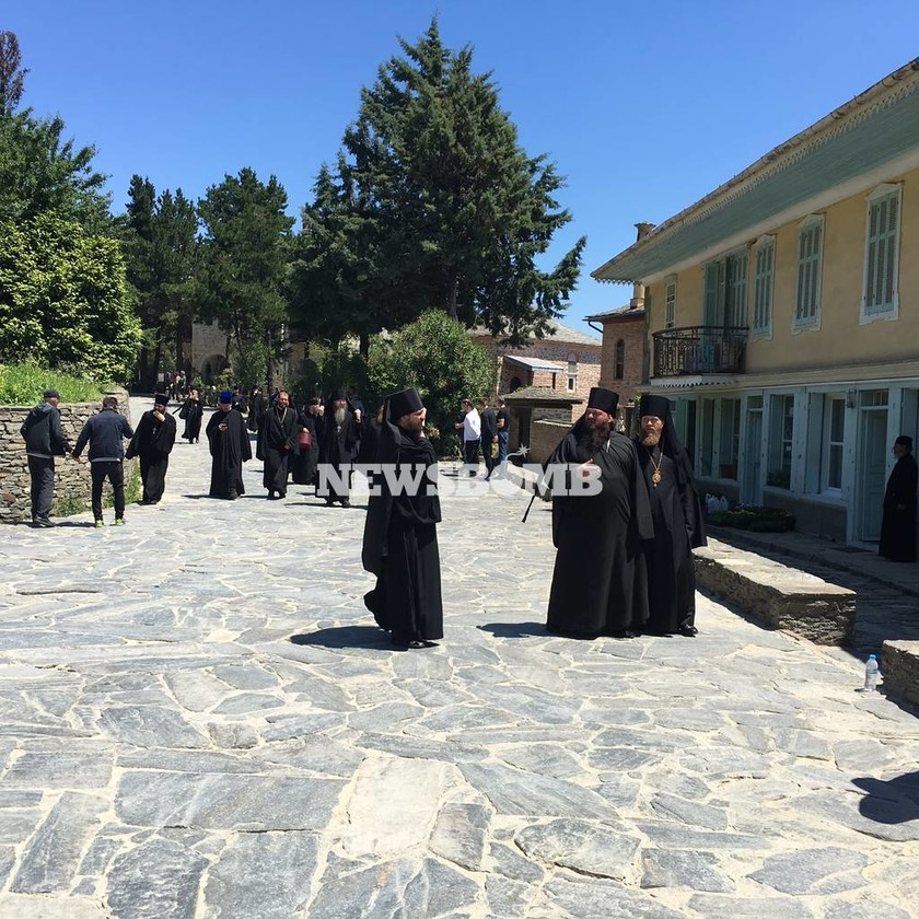 Στο Άγιο Όρος ο Πατριάρχης Κύριλλος (photos)
