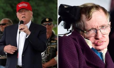 «Ξεσπάθωσε» ο Στίβεν Χόκινγκ κατά του Ντόναλντ Τραμπ (Vid)