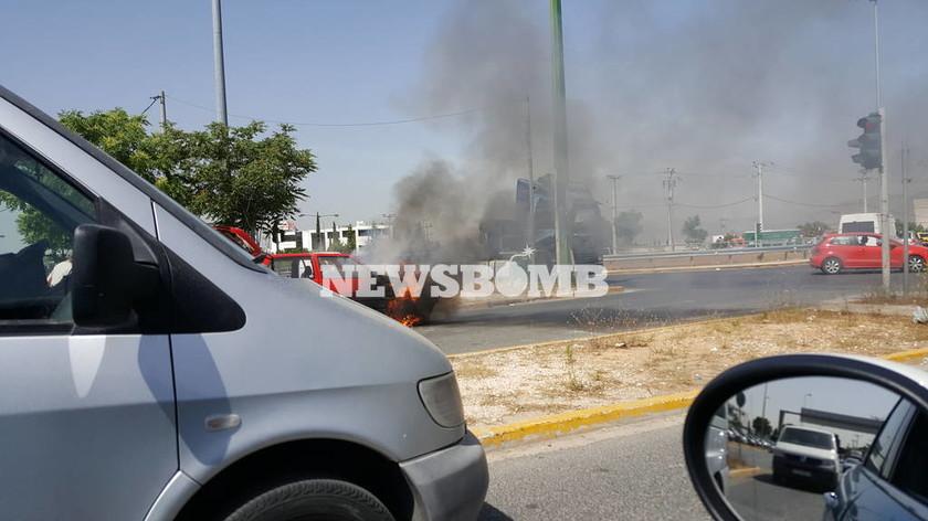 Συναγερμός στην πυροσβεστική: Αυτοκίνητο τυλίχτηκε στις φλόγες (photo)