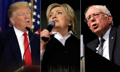 Δημοκρατικό μέτωπο Κλίντον και Σάντερς ενάντια στον Ντόναλντ Τραμπ (Vid)