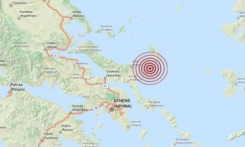 Σεισμός 3,4 Ρίχτερ ανατολικά της Εύβοιας