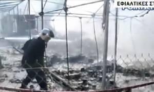 На острове Хиос в центре для беженцев произошел пожар