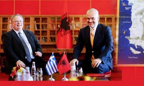 Πρόκληση του Έντι Ράμα – Αλβανικός χάρτης με ελληνικά εδάφη στολίζει το γραφείο του