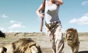 Βίντεο – σοκ: Λιοντάρι παίρνει εκδίκηση από κυνηγούς που ποζάρουν με το νεκρό «φίλο» του!