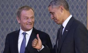 Γιούνκερ, Τουσκ και Ομπάμα στο περιθώριο της Συνόδου Κορυφής του ΝΑΤΟ