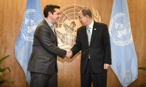 Τετ-α-τετ Τσίπρα με τον γ.γ. του ΟΗΕ το Σάββατο
