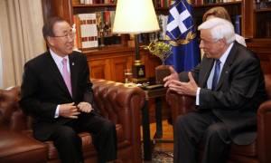 Παυλόπουλος προς Μπαν Κι-μουν: Να πιεστεί η Τουρκία να εφαρμόσει την συμφωνία