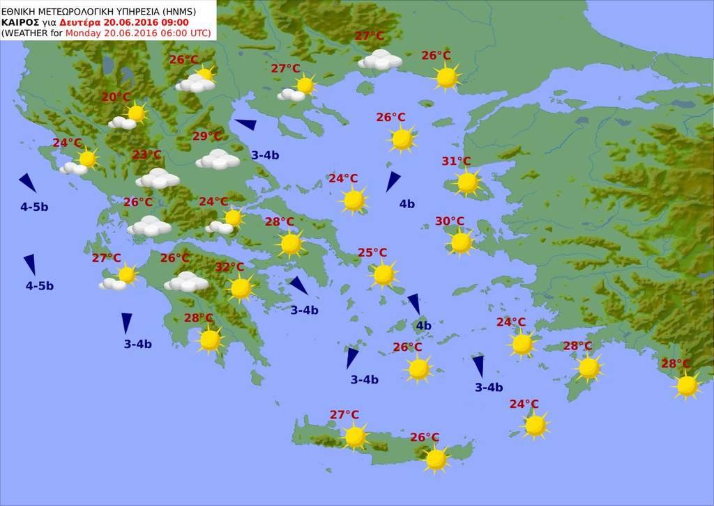 Καιρός του Αγίου Πνεύματος: Επιμένει ο καύσωνας και τα 40άρια - Δείτε τις θερμοκρασίες (pics)