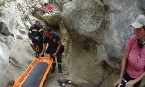 Νέα περιπέτεια σε φαράγγι - Πεζοπόρος έπεσε σε κώμα - Αγωνιώδης διάσωση