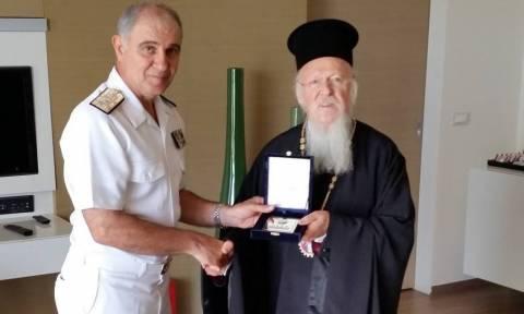 Συνάντηση Αρχηγού ΓΕΝ με τον Οικουμενικό Πατριάρχη και τον Αρχιεπίσκοπο Αμερικής (pics)
