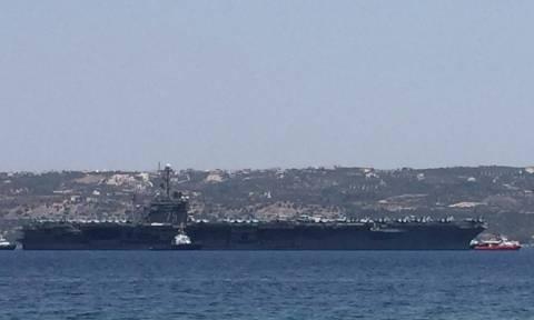 Αποκλειστικό: Το αεροπλανοφόρο Χάρυ Τρούμαν αποχωρεί απο την Σούδα (pics+vid)