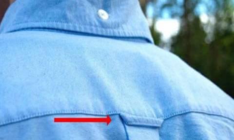 Αποκλείεται να το γνώριζες: Γιατί υπάρχει η μικρή θηλιά στο πίσω μέρος του πουκάμισου;