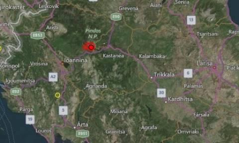 Σεισμός στο Μέτσοβο
