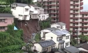 Απίστευτο βίντεο: Κατολίσθηση προκάλεσε την ανατροπή σπιτιού στην Ιαπωνία