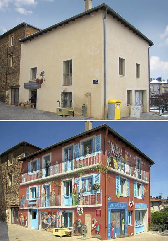 Παρεμβαίνοντας στο αστικό τοπίο: Οι γιγαντιαίες τοιχογραφίες που αλλάζουν τη μορφή της Γαλλίας (Pic)