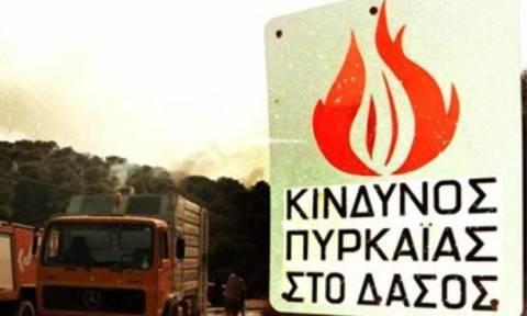 Υψηλός o κίνδυνος πυρκαγιών τη Δευτέρα (χάρτης)