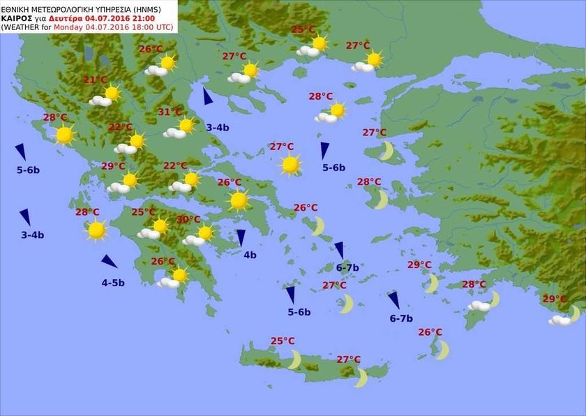 Καιρός: Με ζέστη, τοπικές βροχές και… μποφόρ η Δευτέρα (pics)