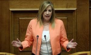 Γεννηματά: Η κυβέρνηση ΣΥΡΙΖΑ-ΑΝΕΛ ακύρωσε το έργο του αυτοκινητόδρομου Πατρών - Πύργου
