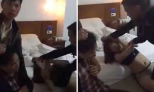 Άντρας έπιασε τη γυναίκα του σε δωμάτιο ξενοδοχείου με άλλον και την βιντεοσκόπησε