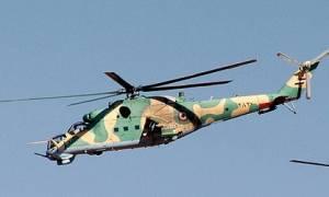 В интернете опубликовано видео падения вертолета Ми-25 с российским экипажем на борту