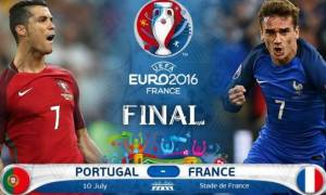 Τελικός Euro 2016: Οι ενδεκάδες για Πορτογαλία και Γαλλία (pιcs)