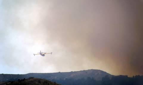 Λέρος: Υπό έλεγχο τέθηκε η φωτιά στο Παρθένι
