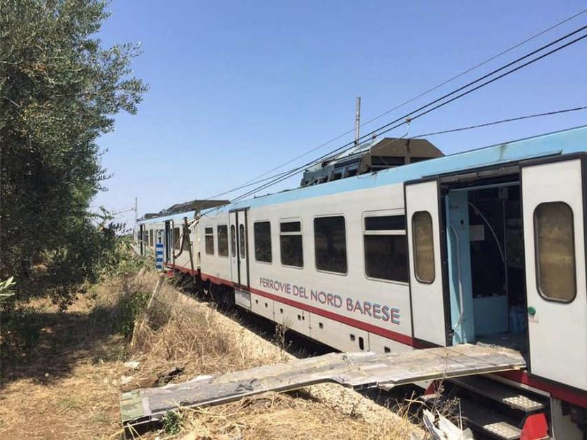 Τραγωδία στην Ιταλία: Μετωπική σύγκρουση τρένων έξω από το Μπάρι (pics + vids)