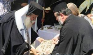 Η θεμελίωση του Ι.Ν. Αγίου Παϊσίου από τον Φθιώτιδος Νικόλαο