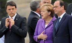 Συνάντηση Ολάντ με Μέρκελ και Ρέντσι για το Brexit