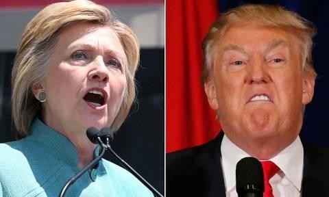 ΗΠΑ: Νέα δημοσκόπηση δίνει προβάδισμα του Τραμπ έναντι της Χίλαρι