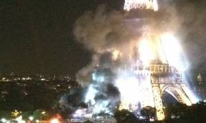 Συναγερμός και στο Παρίσι: «Πάγωσε» η υφήλιος με τους καπνούς στον Πύργο του Άιφελ (video+photos)
