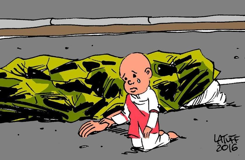 Επίθεση Νίκαια: Το σπαρακτικό σκίτσο του Λατούφ για το μακελειό στη Γαλλία (Pic)