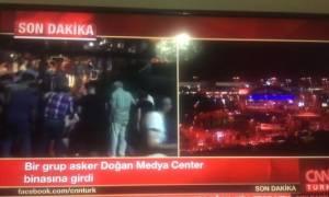 Τουρκία: Εισβολή πραξικοπηματιών στο CNN Turk (vid)