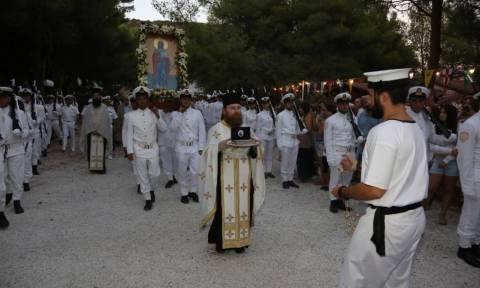 Εορτασμός της Αγ. Μαρίνας στο Ναό της  Ναυτικής Βάσης Νοτίου Ευβοϊκού