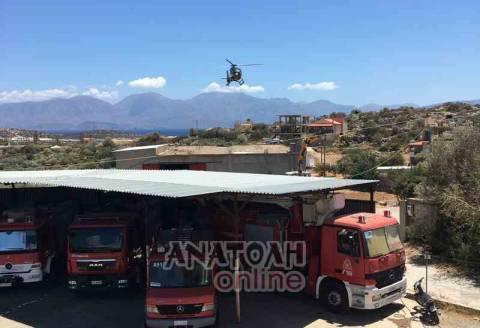 Άφωνοι οι κάτοικοι στον Άγιο Νικόλαο όταν είδαν ελικόπτερο να προσγειώνεται σε ταράτσα